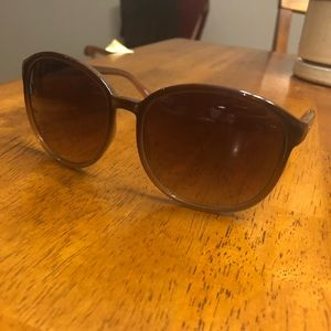 Fossil Large Rounded Brown Sunnies